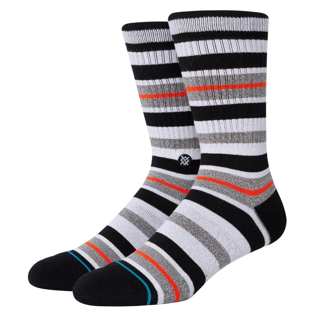 Stance Brock Socks Black - Mens Crew Length Socks by Stance