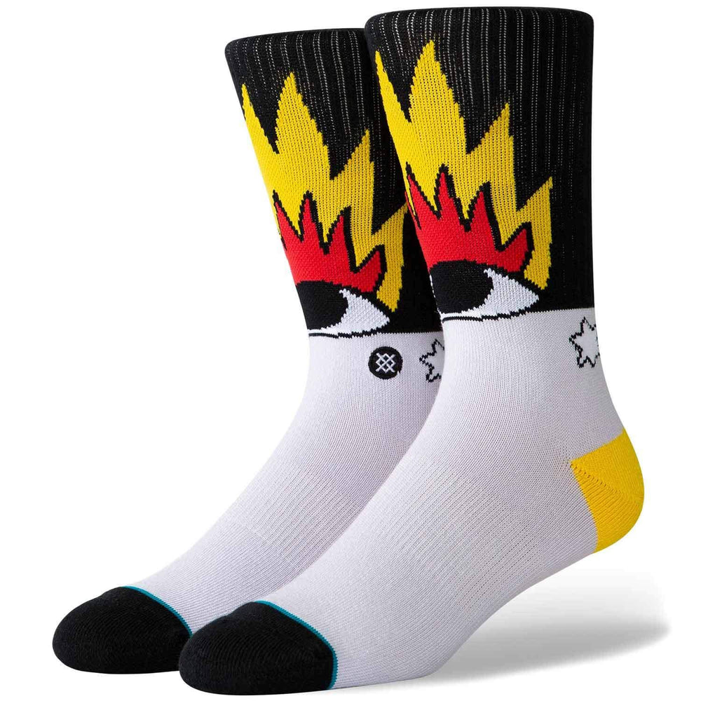 Stance Cavolo Fire And Eyes Socks - Multi Mens Crew Length Socks by Stance