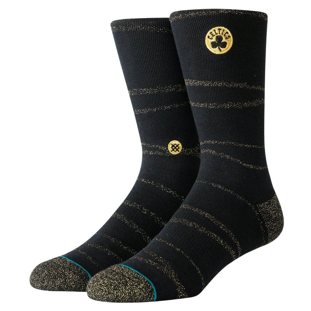 Stance Celtics Trophy Twist Socks - Black - Mens Crew Length Socks by Stance