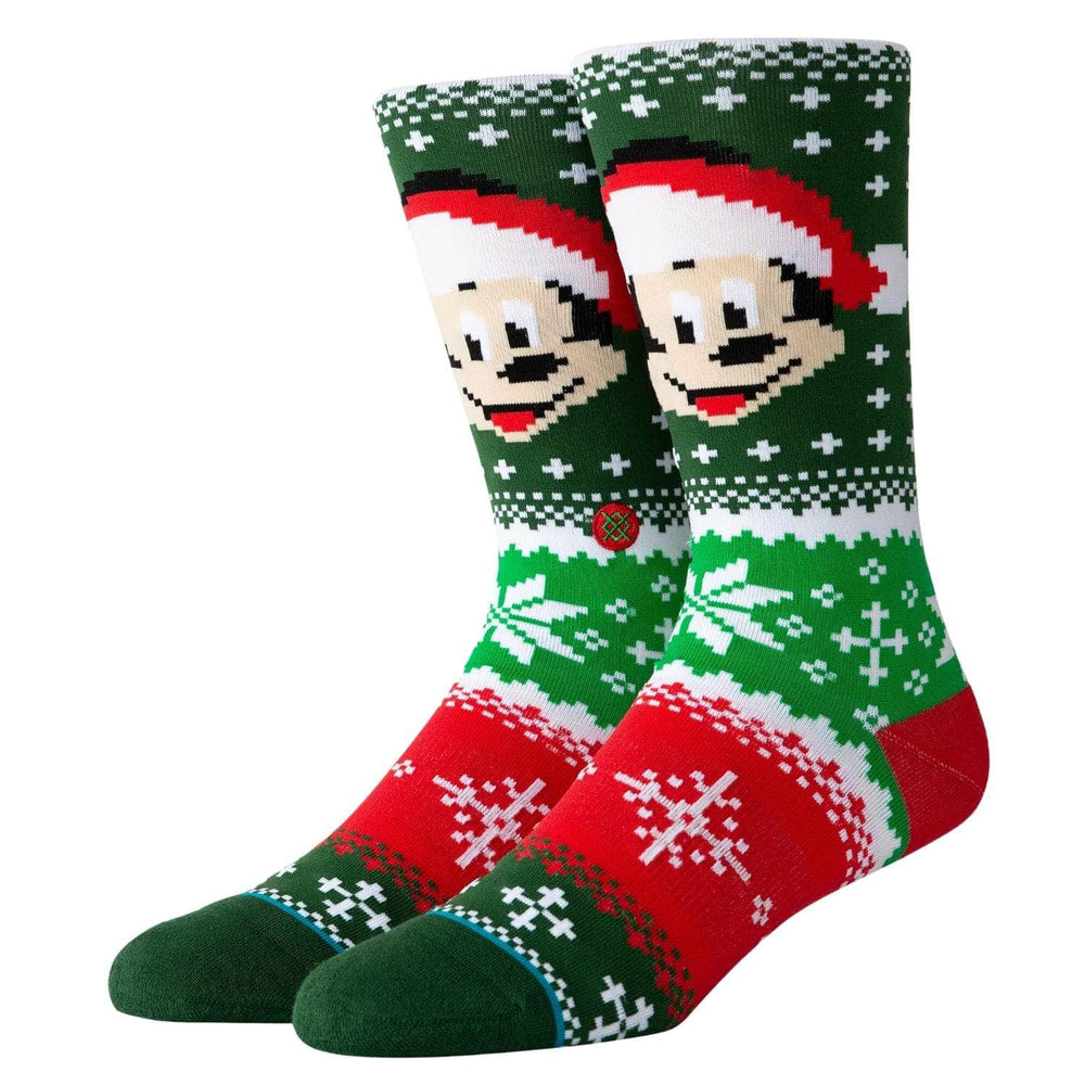 Stance x Disney Mickey Claus Socks Multi - Mens Crew Length Socks by Stance