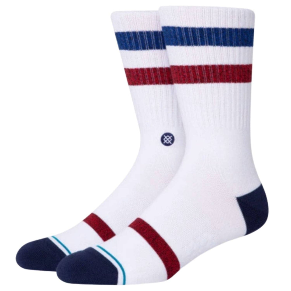 Stance Five Star Socks White - Mens Crew Length Socks by Stance
