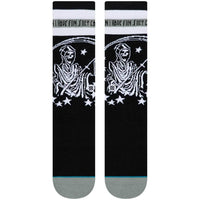 Stance Have Fun Socks - Black Mens Crew Length Socks by Stance
