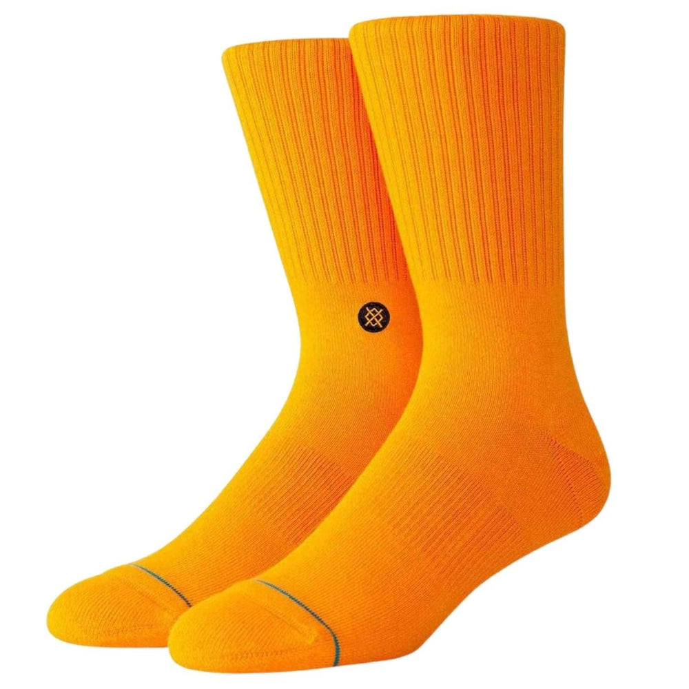 Stance Icon Socks Neon Orange - Mens Crew Length Socks by Stance