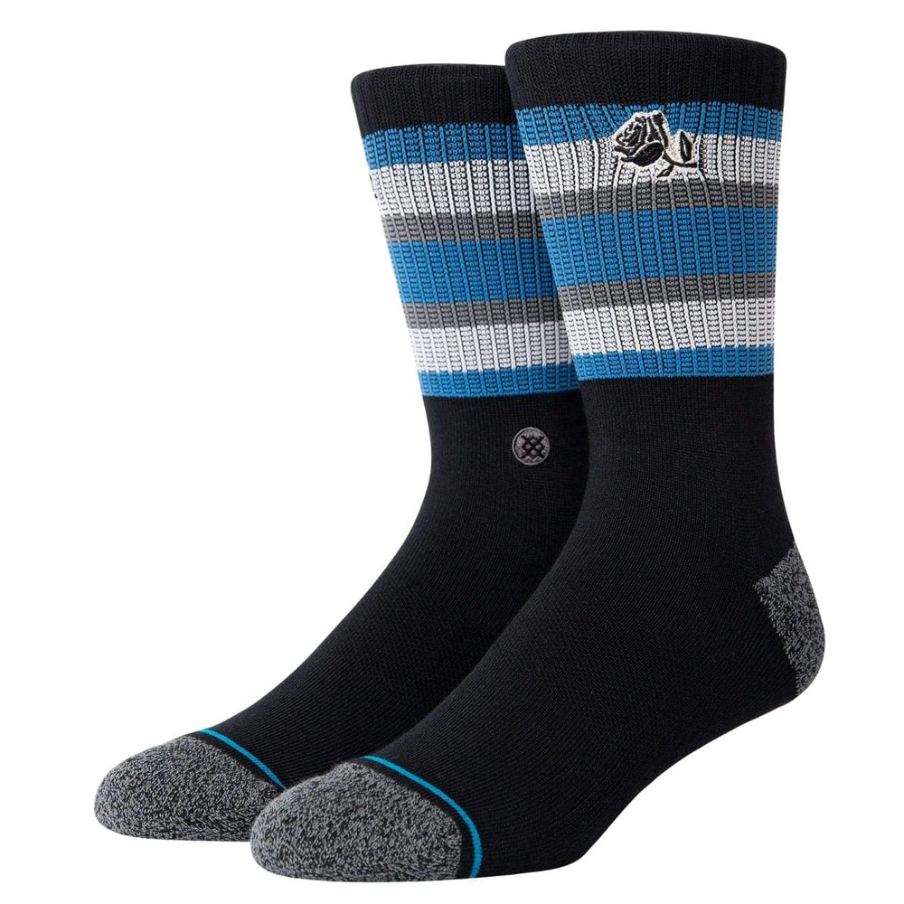 Stance Joan Socks Black Mens Crew Length Socks by Stance