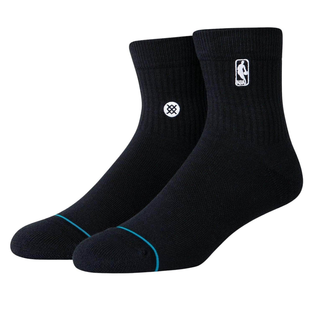 Stance Logoman ST QTR Socks - Black - Mens Crew Length Socks by Stance