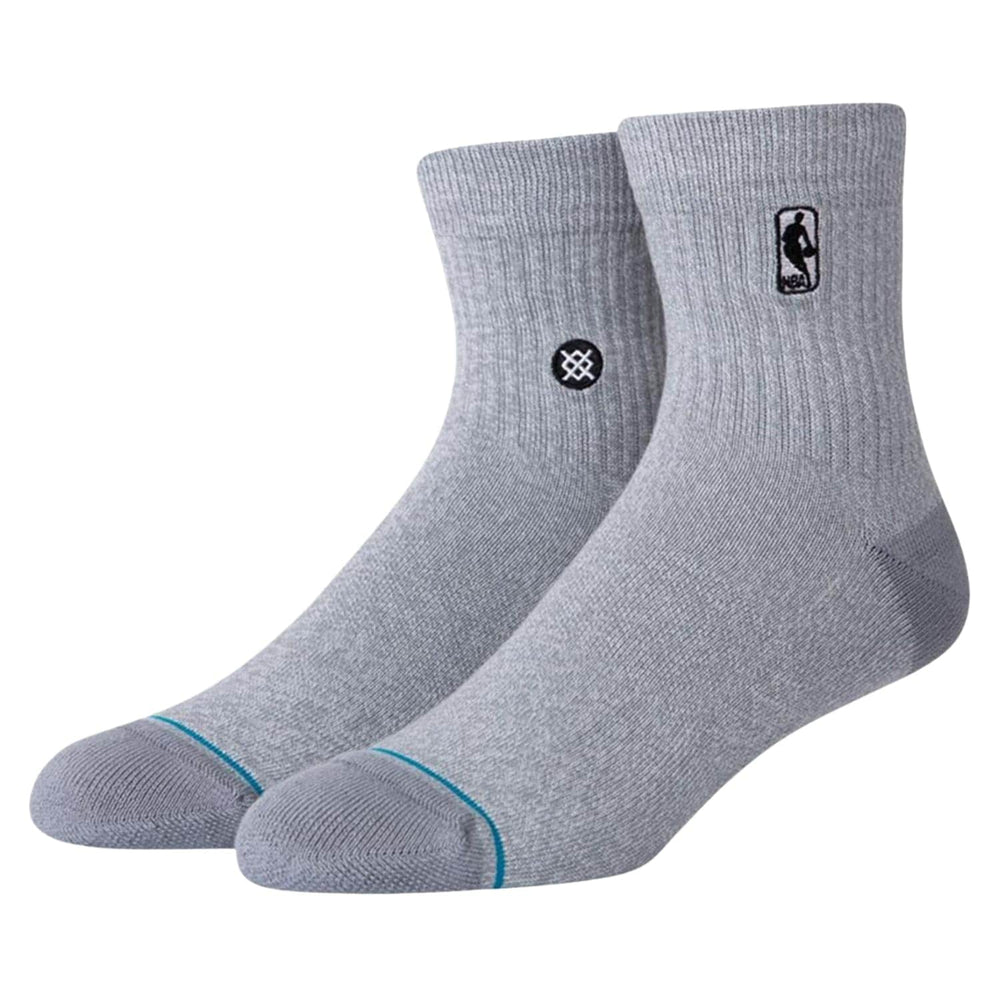 Stance Logoman ST QTR Socks - Grey Heather - Mens Crew Length Socks by Stance