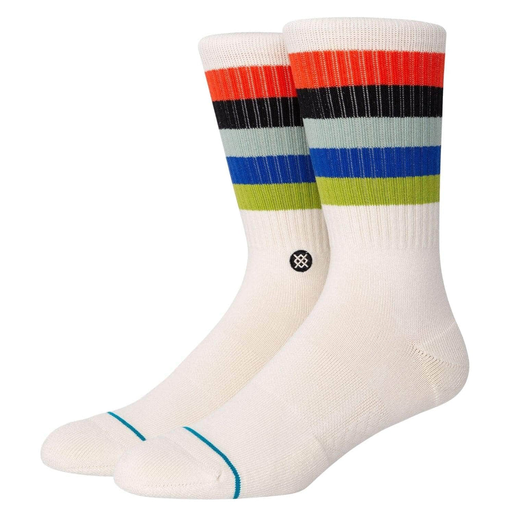 Stance Maliboo Socks Natural - Mens Crew Length Socks by Stance