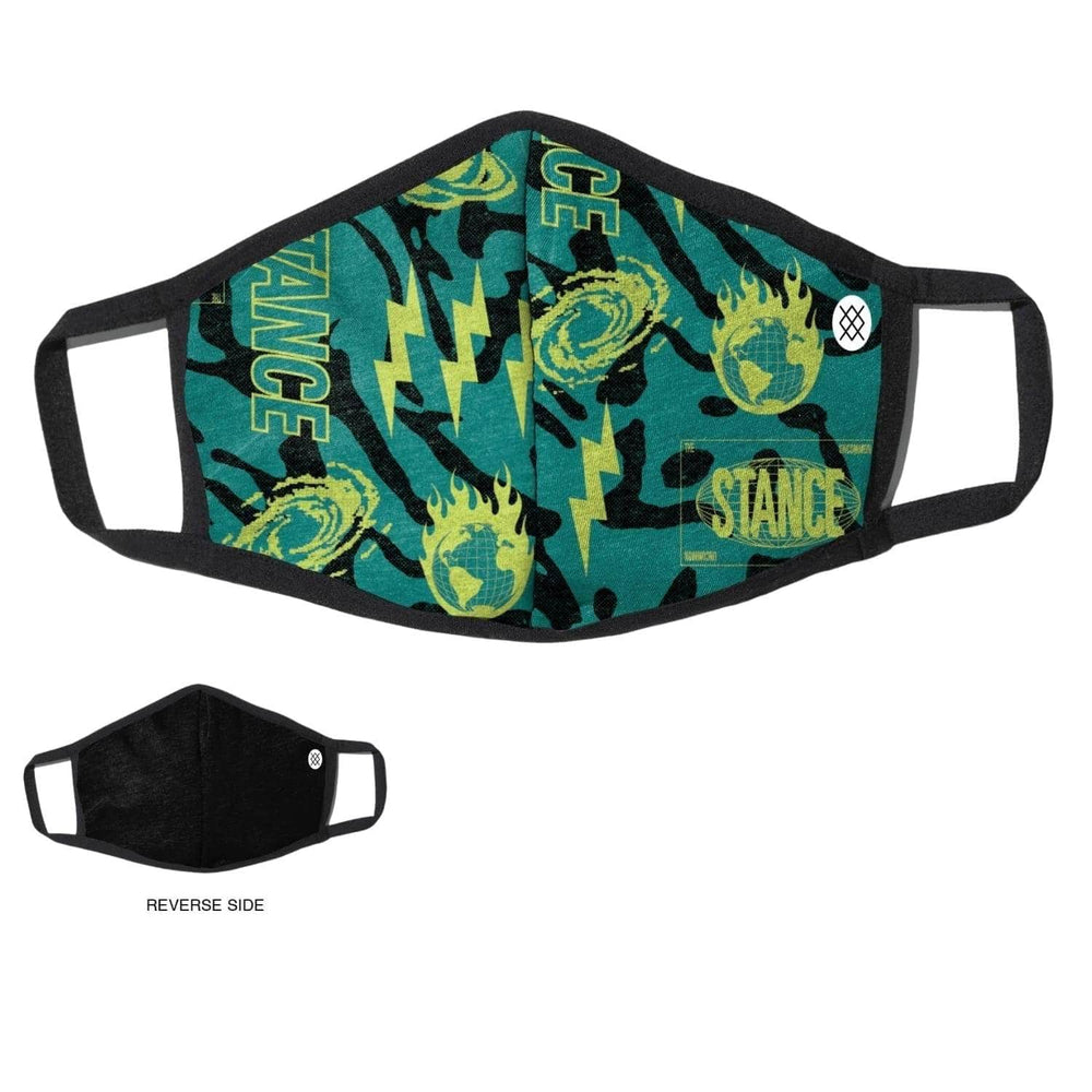 Stance Meteorite Face Mask - Teal - One Size