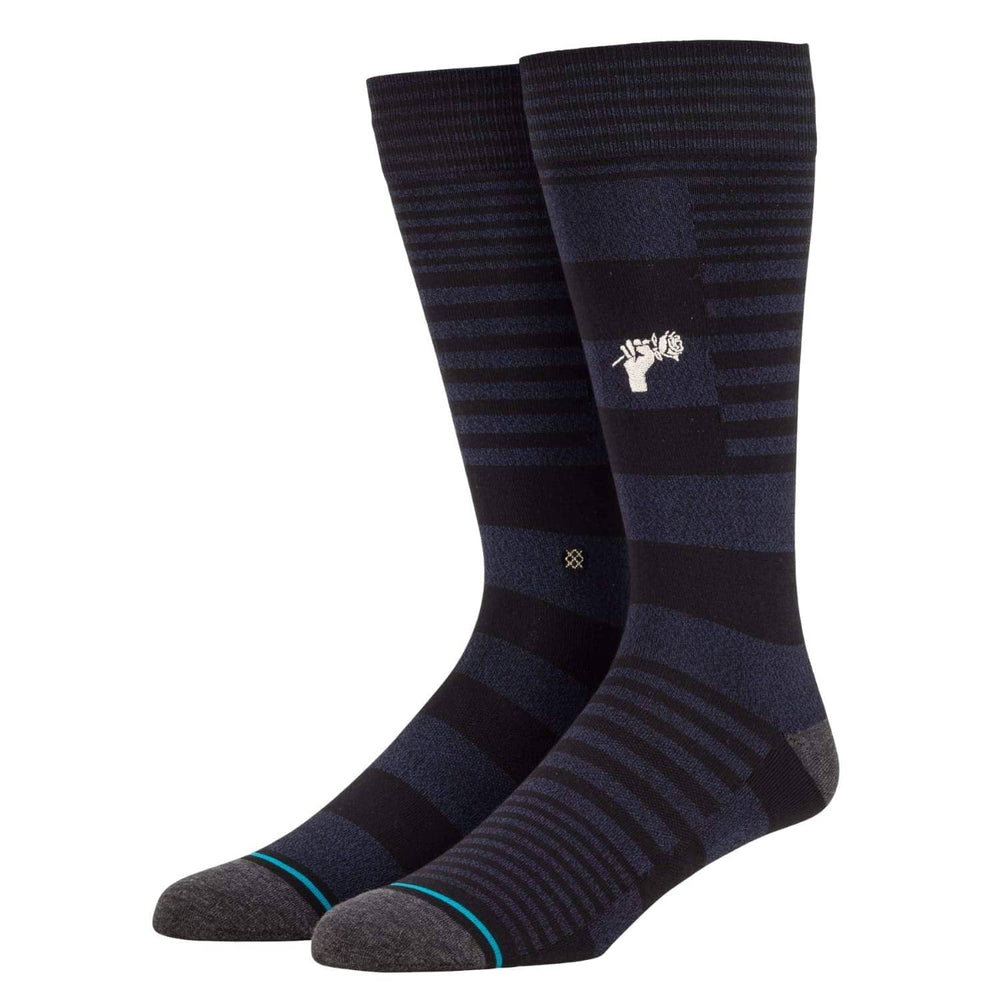 Stance Power Flower Butter Blend Socks - Black