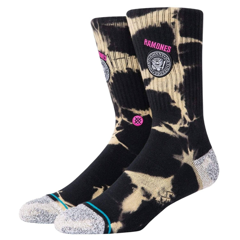 Stance Ramones 1976 Socks Black - Mens Crew Length Socks by Stance