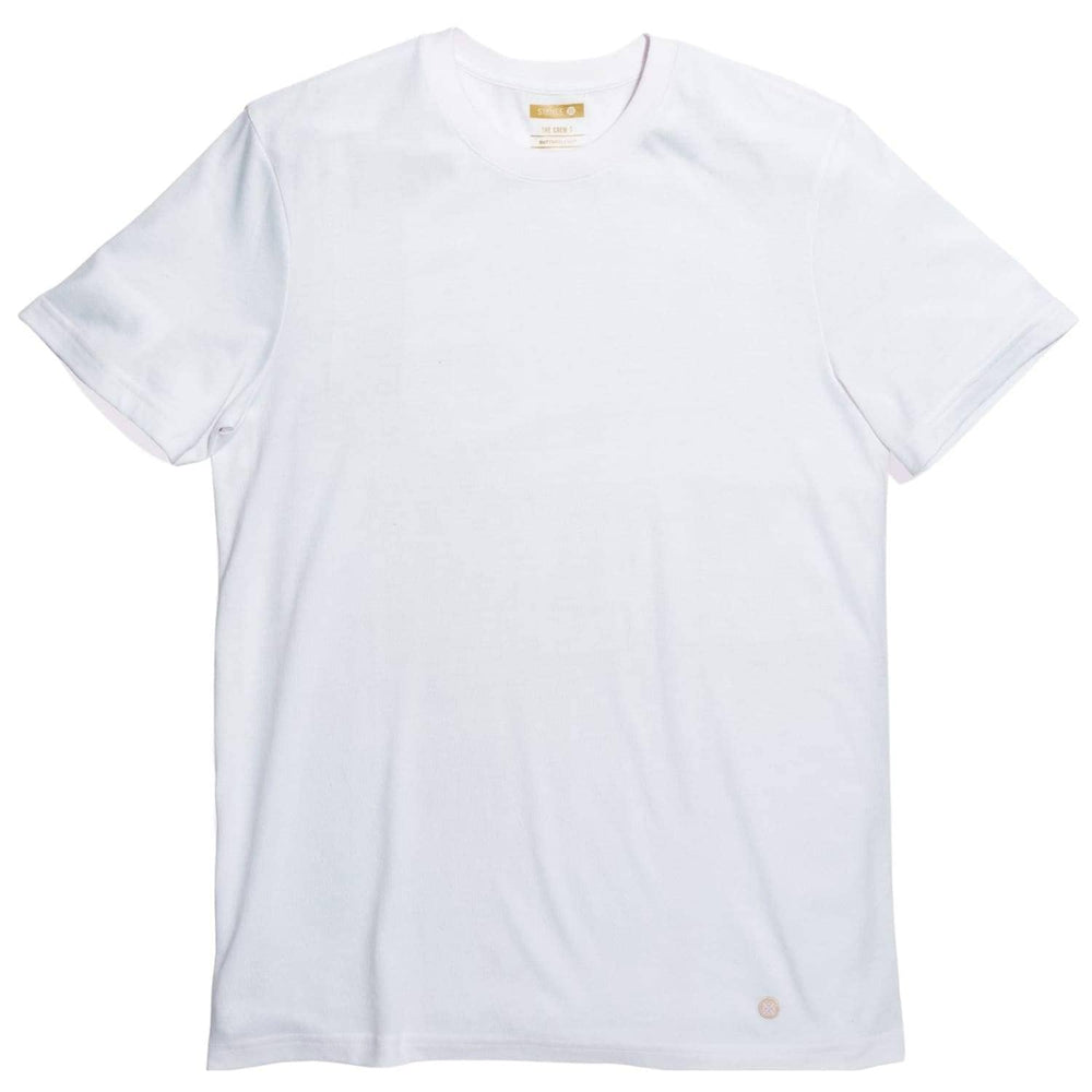 Stance Standard T White - Mens Plain T-Shirt by Stance