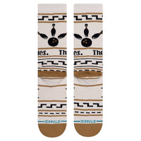 Stance The Dude Socks Tan - Mens Crew Length Socks by Stance