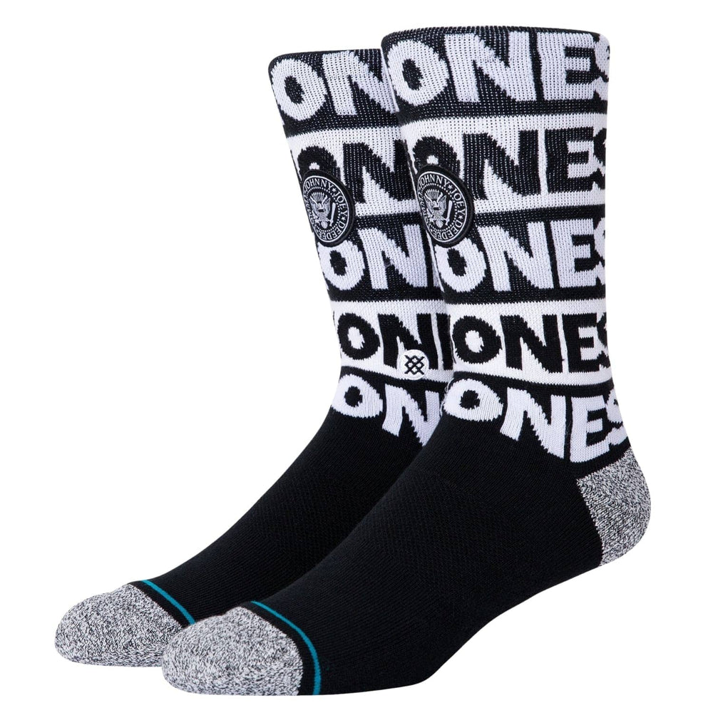 Stance The Ramones Socks Black - Mens Crew Length Socks by Stance