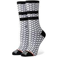 Stance Womens Fish Nets Socks - White Womens Crew Length Socks by Stance