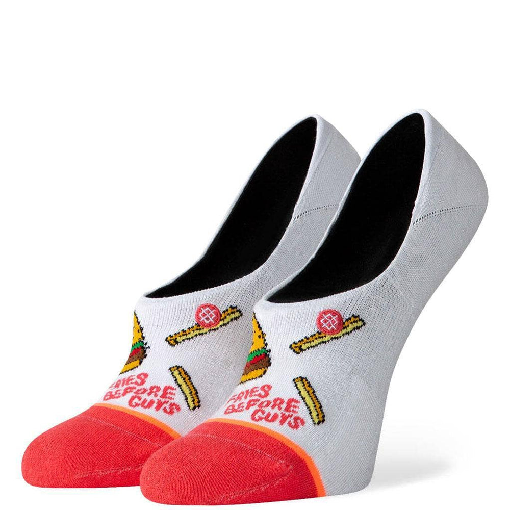 Stance Womens Fries B4 Guys Super Invisible Socks - White