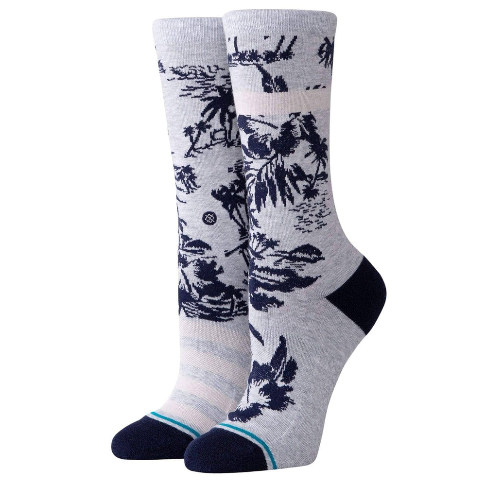 Stance Womens Harbor Crew Socks Grey Womens Crew Length Socks by Stance