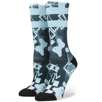 Stance Womens Plane Mini Socks - Blue Womens Crew Length Socks by Stance