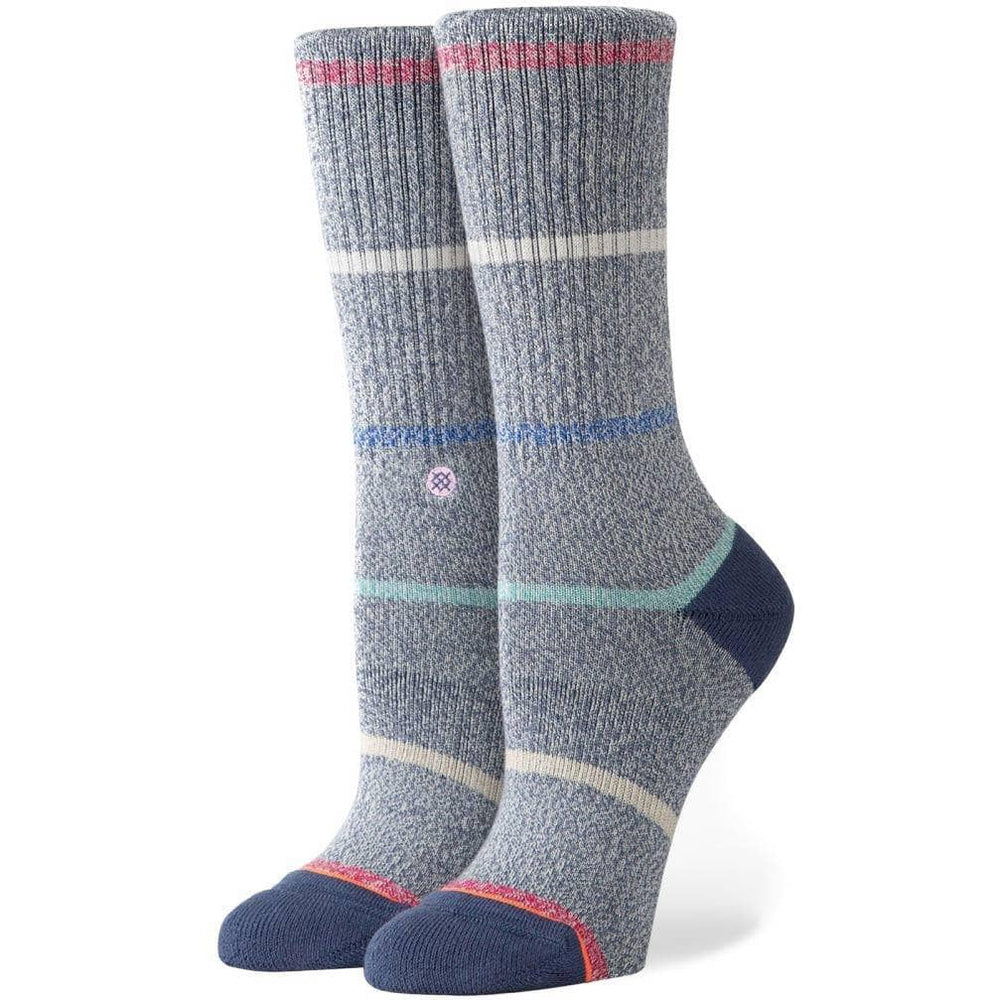 Stance Womens Sundown Crew Socks - Blue