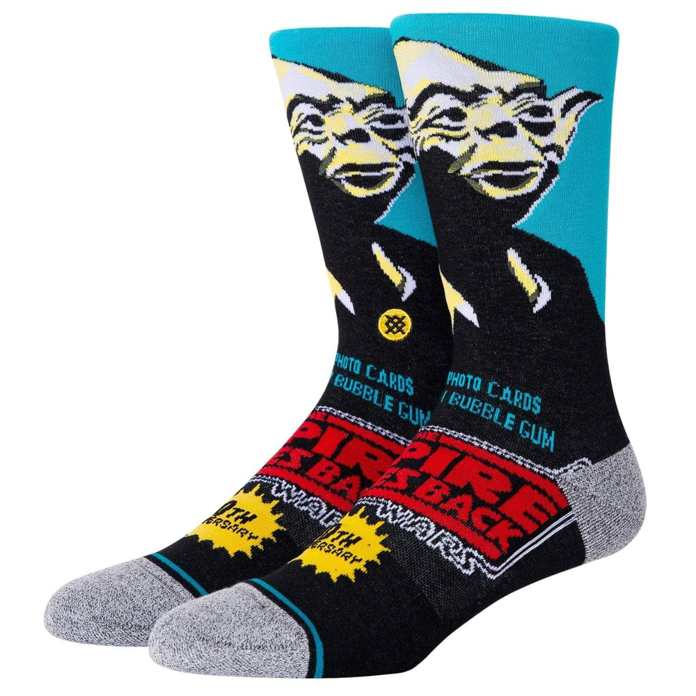 Stance X Star Wars Yoda 40th Socks Blue - Mens Crew Length Socks by Stance L (UK8-12)
