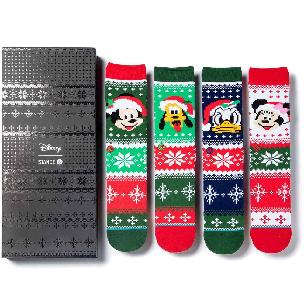 Stance x Disney Disney Claus Socks Box Set - Multi Mens Crew Length Socks by Stance