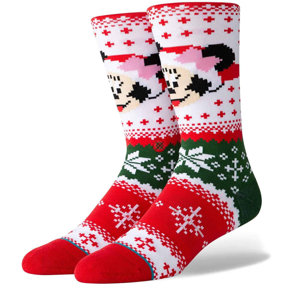 Stance x Disney Minnie Claus Socks - Multi Mens Crew Length Socks by Stance