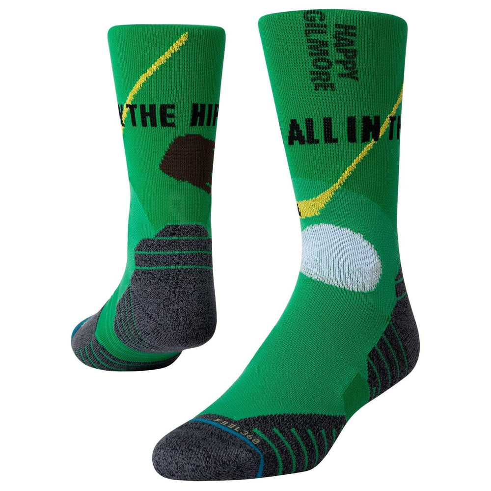 Stance x Happy Gilmore Happy Hips Socks Green Mens Crew Length Socks by Stance