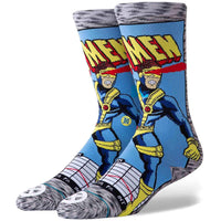 Stance x Marvel Cyclops Comic Socks - Grey Mens Crew Length Socks by Stance