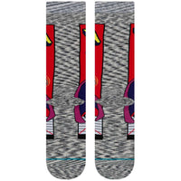 Stance x Marvel Magneto Comic Socks - Grey Mens Crew Length Socks by Stance