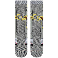 Stance x Marvel Storm Comic Socks - Grey Mens Crew Length Socks by Stance