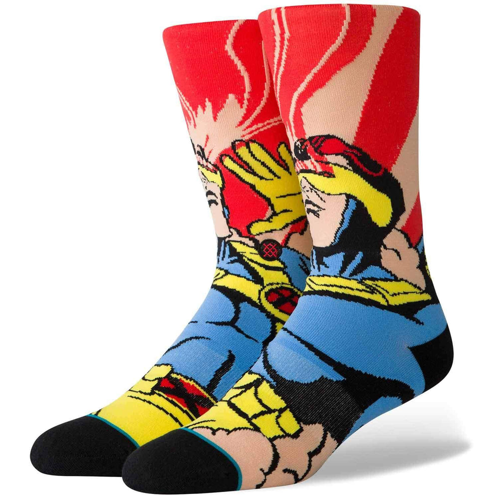 Stance x Marvel X-Men Cyclops Socks - Magenta Mens Crew Length Socks by Stance