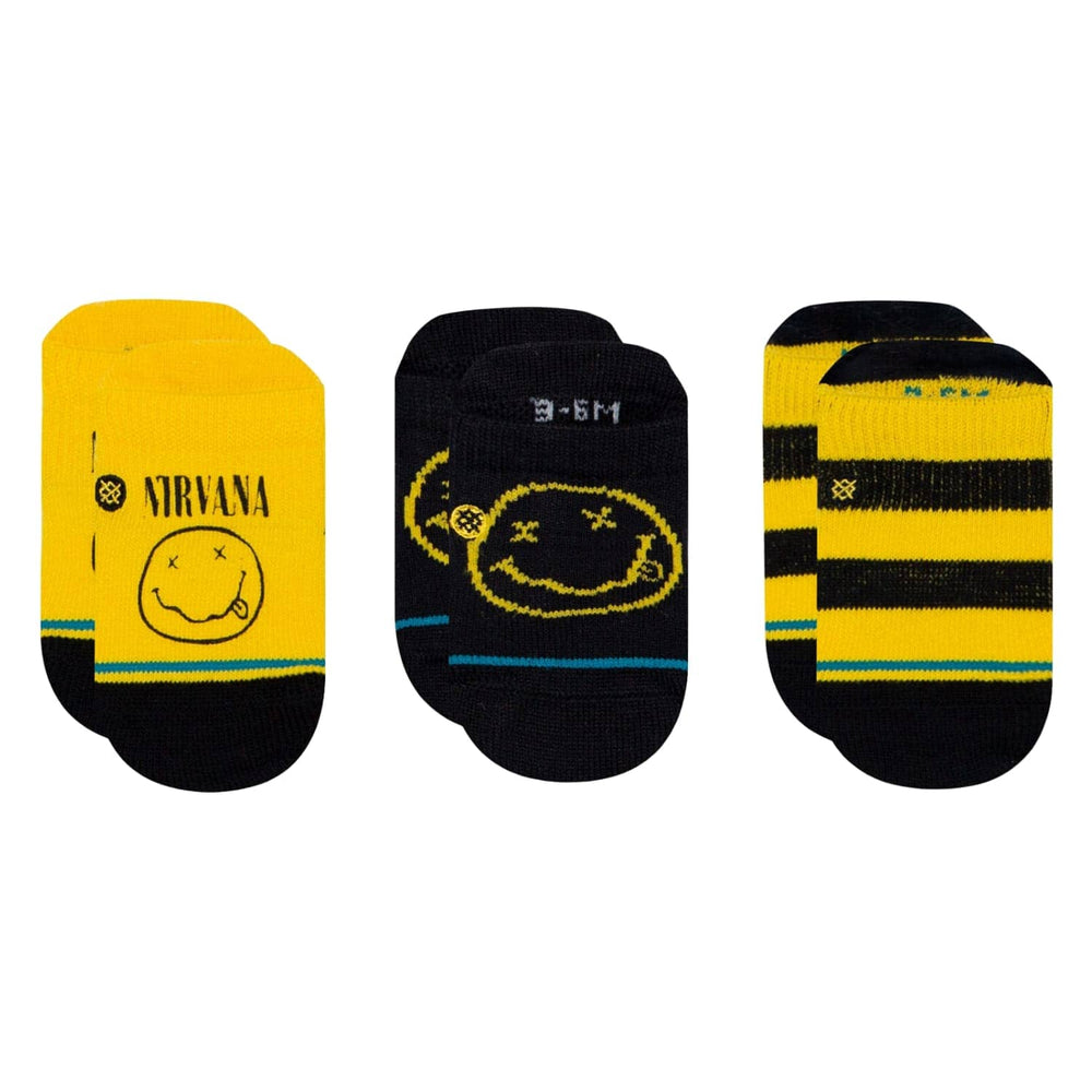 Stance x Nirvana Nevermind 3 Pack Baby Socks Multi Boys Baby/Toddler Socks by Stance