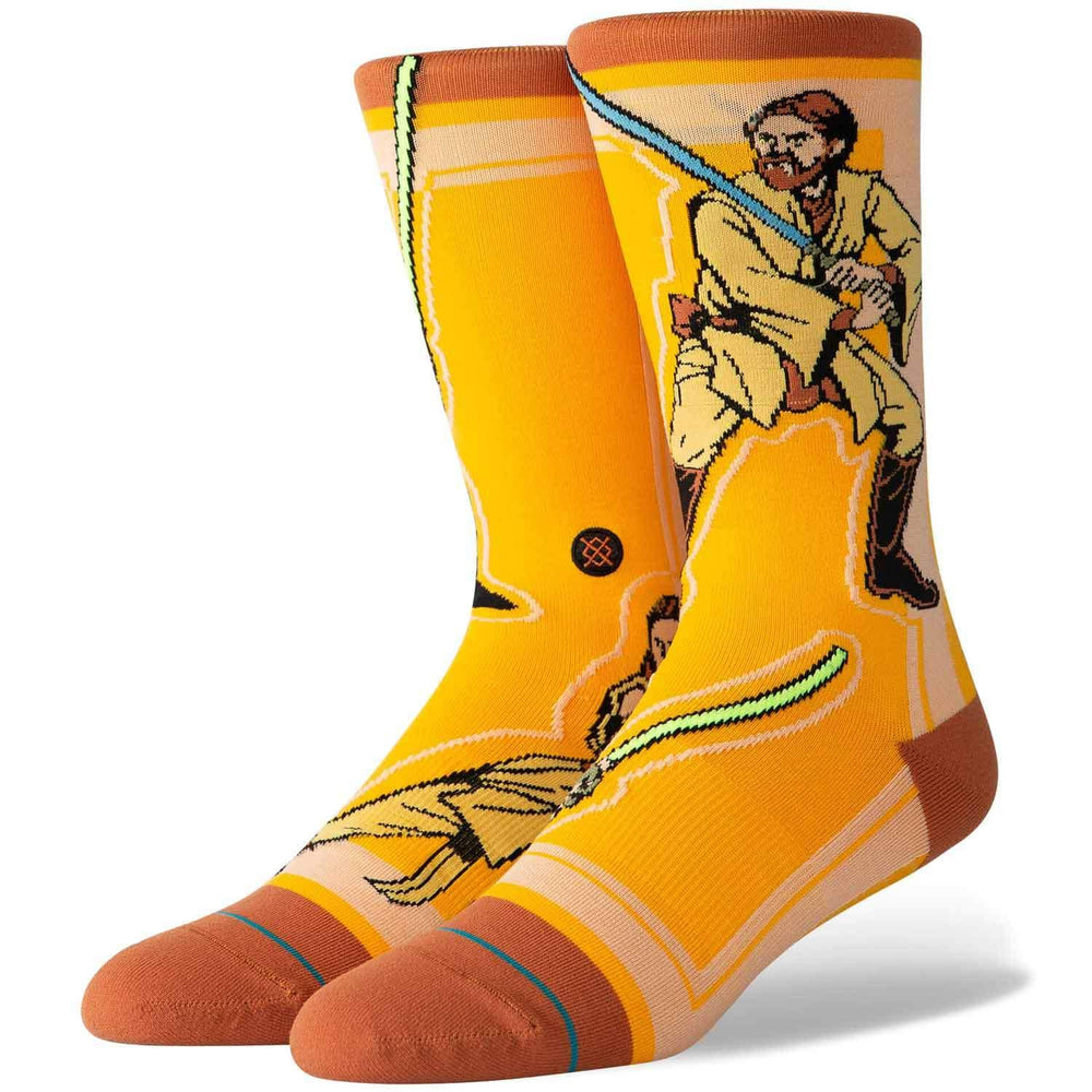 Stance x Star Wars Jedi Socks - Yellow Mens Crew Length Socks by Stance