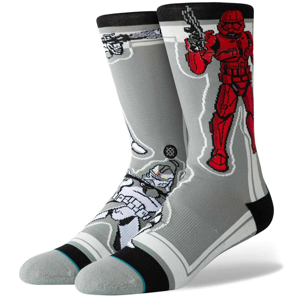 Stance x Star Wars Storm Trooper Socks - Grey Mens Crew Length Socks by Stance
