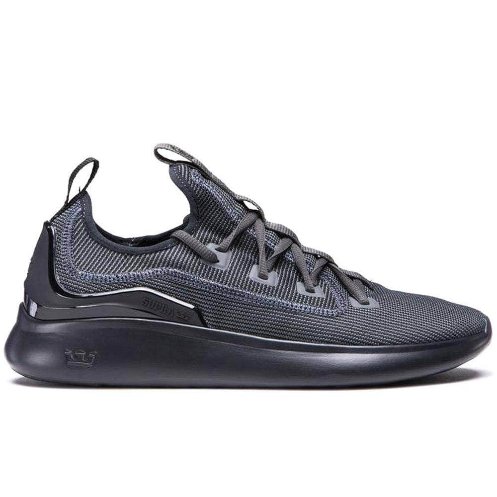Supra Factor Shoes Dk - Grey Black Mens Running Shoes/Trainers by Supra