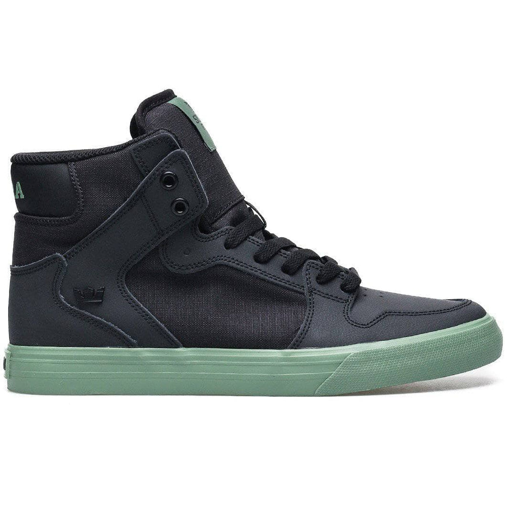 Supra Vaider High Top Shoes - Black Hedge Mens High Top Trainers by Supra