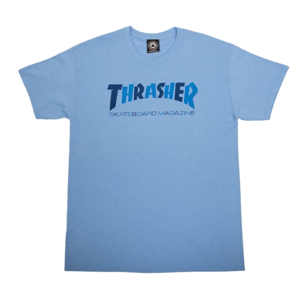 Thrasher Checkers T-Shirt Carolina Blue - Mens Skate Brand T-Shirt by Thrasher