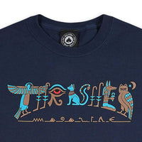 Thrasher Hieroglyphics T-Shirt - Navy Blue