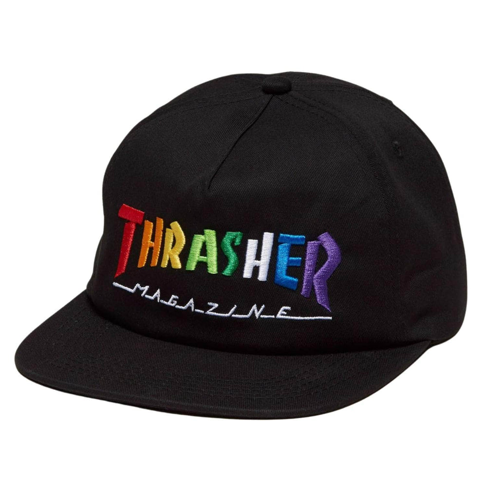 Thrasher Rainbow Mag Snapback Black One Size - Snapback Cap by Thrasher One Size