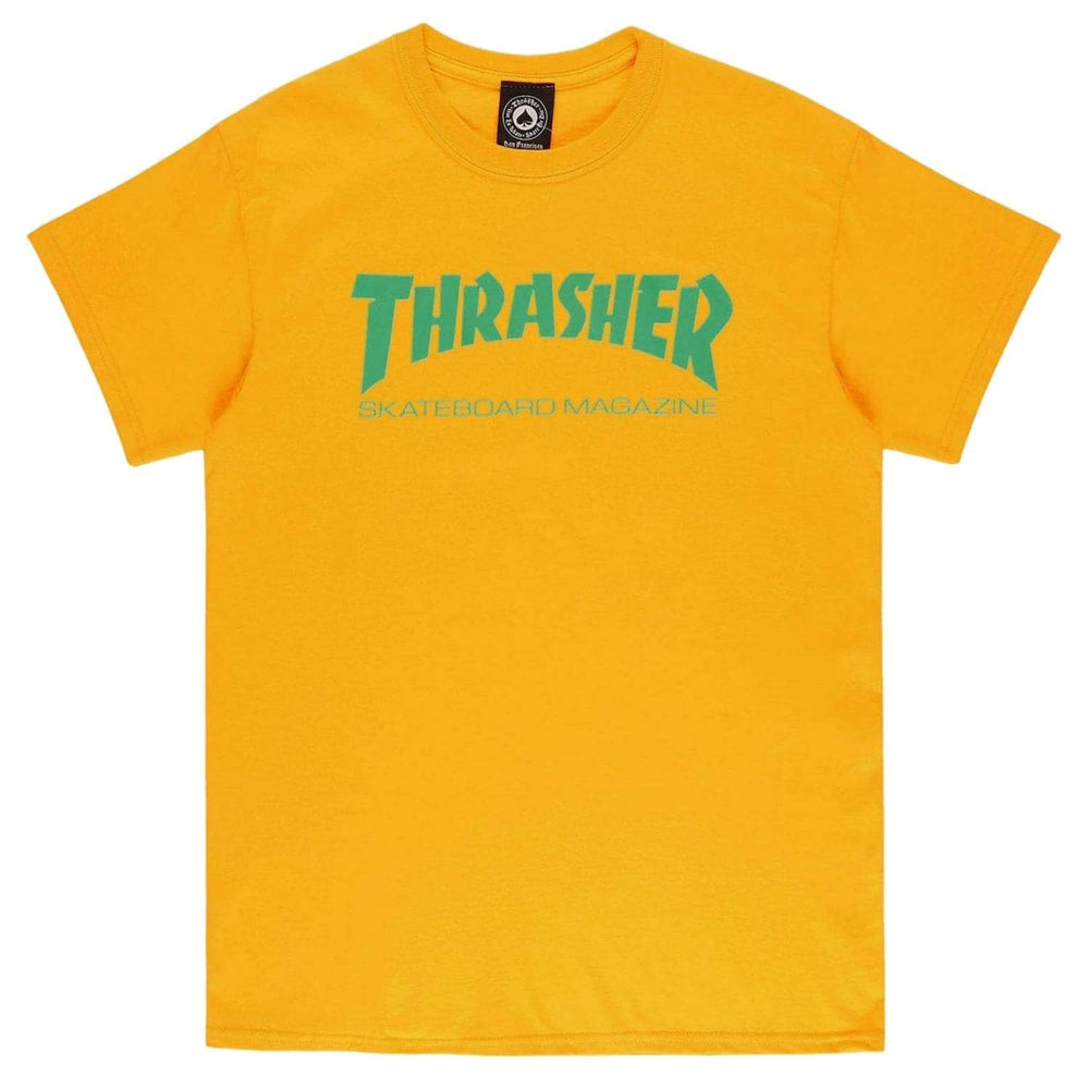 Thrasher Skate Mag T-Shirt Gold - Mens Graphic T-Shirt by Thrasher