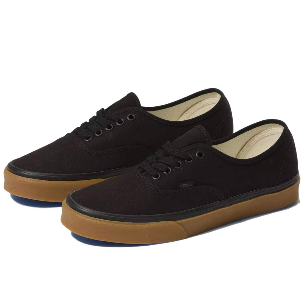 Vans Authentic Skate Shoes (12 Oz Canvas) - Black / Gum