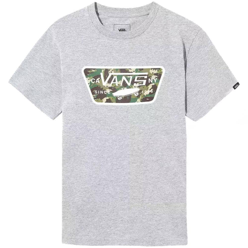 Vans Boys Full Patch Fill T-Shirt Athletic Heather Dino Camo Boys Skate Brand T-Shirt by Vans