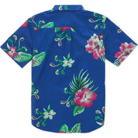 Vans Boys Trap Floral S/S Shirt Sodalite Blue Boys Casual Shirt by Vans