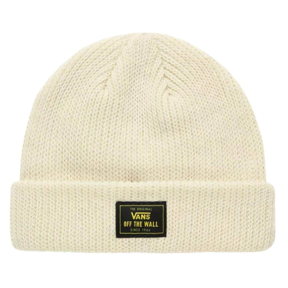 Vans Bruckner Cuff Beanie Antique White One Size - Fold Beanie by Vans