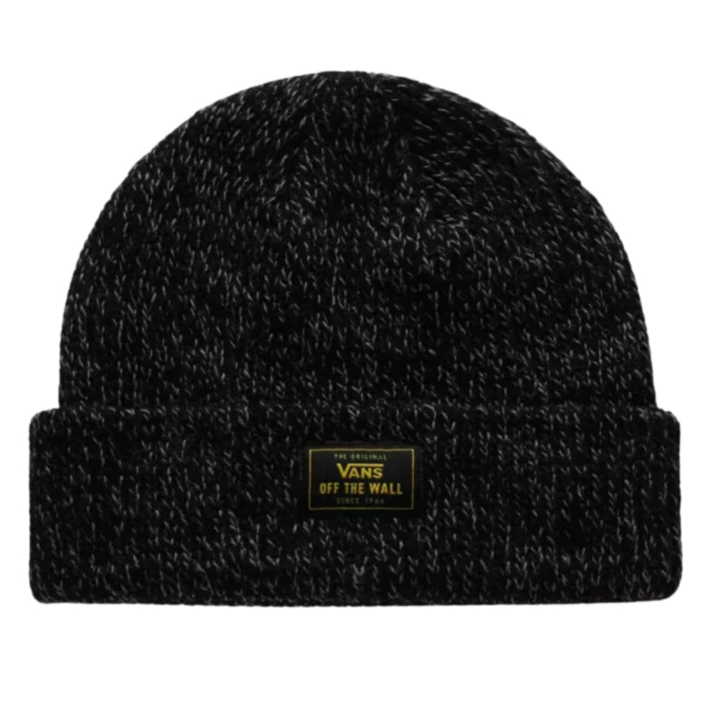 Vans Bruckner Cuff Beanie Black Heather One Size - Fold Beanie by Vans