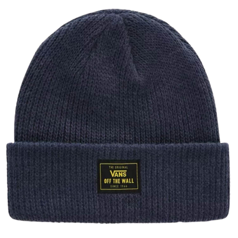 Vans Bruckner Cuff Beanie Dress Blue Heather One Size - Fold Beanie by Vans