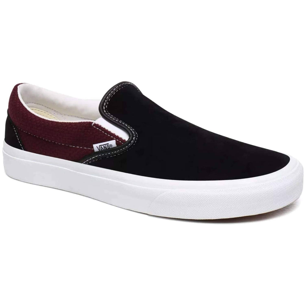 Vans Classic Slip-On - Black / Port Royale Mens Slip On Trainers by Vans