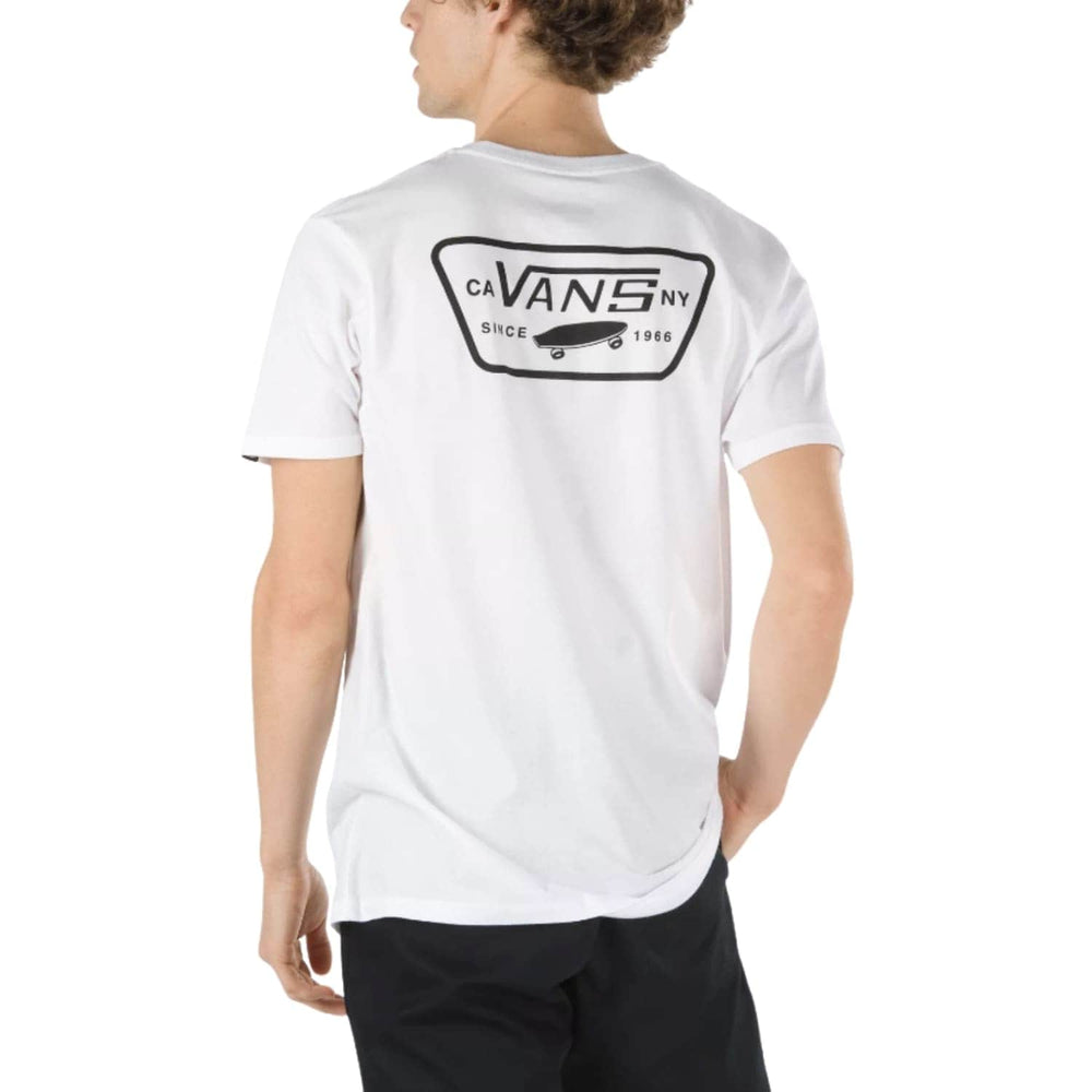 Vans Full Patch Back T-Shirt - White/Black
