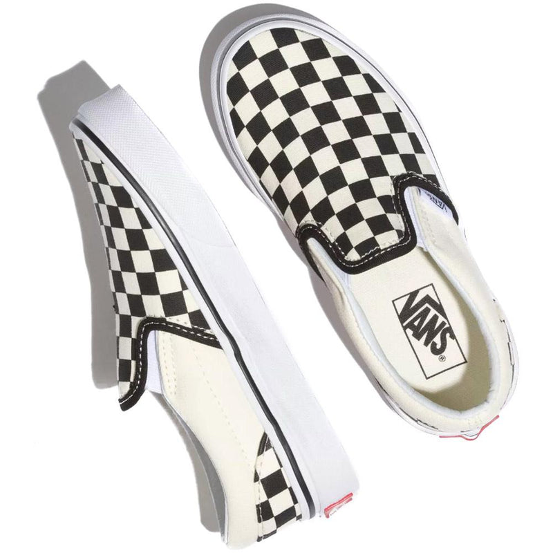 vans-kids-classic-slip on-skate-shoes-checkerboard-blk-white