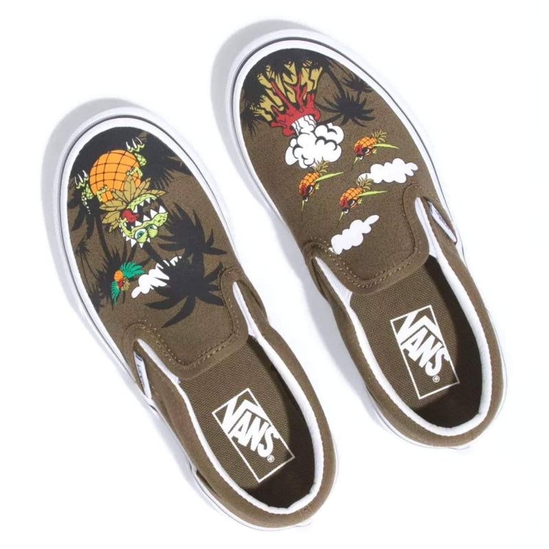 vans-kids-classic-slipon-shoes-dineapple-floral-military-olive-true-white