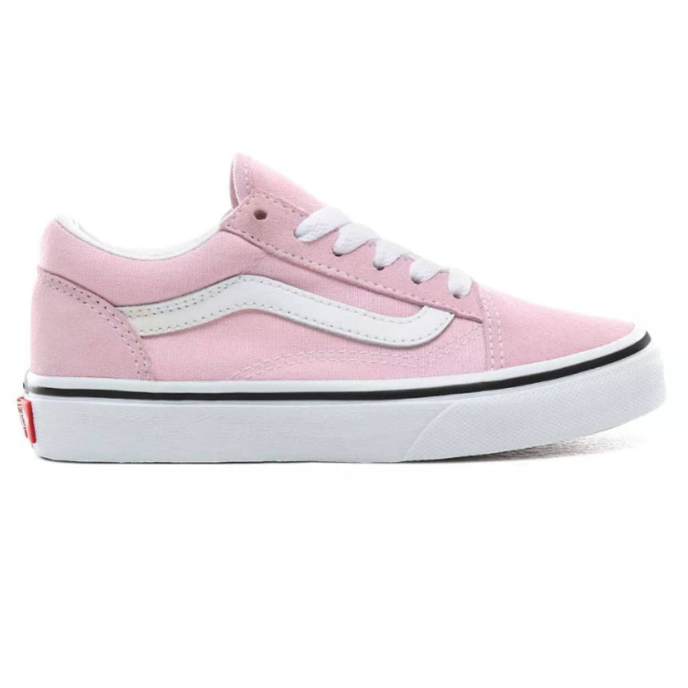 Vans Kids Old Skool Skate Shoes Lilac Snow/True White - Boys Skate Shoes by Vans